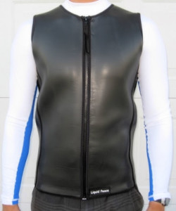 men's 2.5mm smooth skin wetusit vest with full front zipper