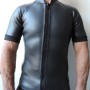 Men's 2mm Smooth Skin Wetsuit Jacket, Full Front Zipper, Short Sleeve