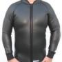 Men's 2mm Smooth Skin Wetsuit Jacket, Front Zip, Long Sleeve