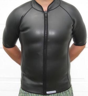 024f940c90 2mm-Smooth-Skin-Wetsuit-Jacket-Short-Sleeve-FZ - Liquid Peace