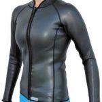 Women's 3mm Smooth Skin Wetsuit Jacket, Front Zip